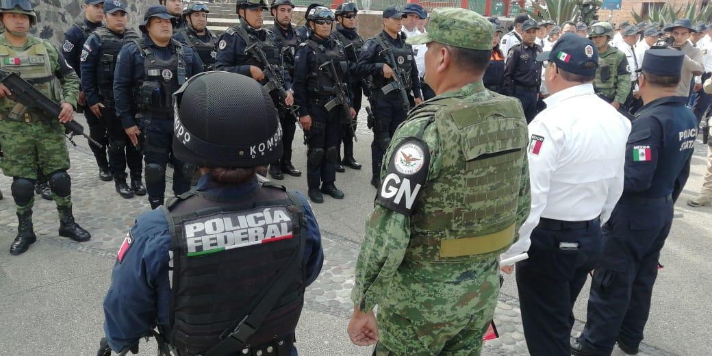 La Guardia Nacional cooperando con la policía federal